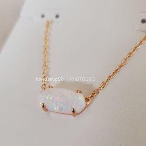 Kendra Scott Kyocera Opal Rose Gold Ever necklace